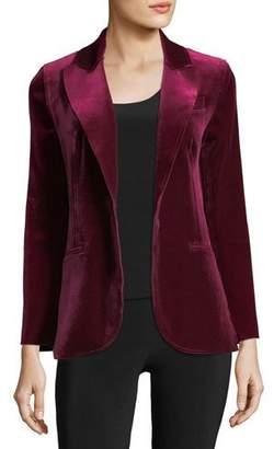 Norma Kamali Velvet Tailored Blazer Jacket