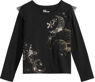 Epic Threads Toddler Girls Flutter-Sleeve Sequin T-Shirt
