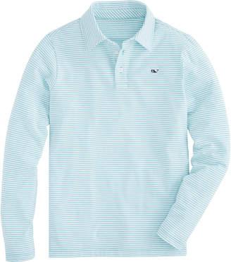 Vineyard Vines Boys Long-Sleeve Color To White Shep Stripe Edgartown Polo