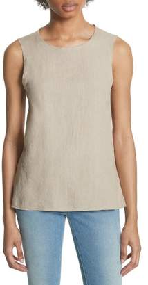 Majestic Lace-Up Linen Top