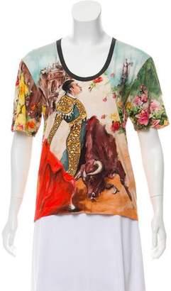 Dolce & Gabbana Abstract Print Scoop Neck T-Shirt