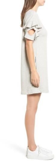 Women's Lush Ruffle Cutout Sweatshirt Dress 3