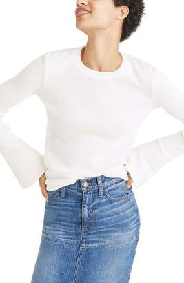 Madewell Ruffle Cuff Ribbed Top