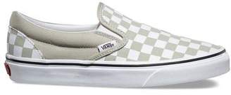 Vans Classic Checkerboard Slip-On In Desert Sage