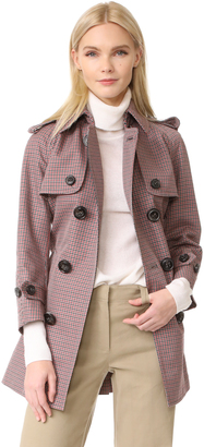 DSQUARED2 Checkered Trench Coat $1,690 thestylecure.com