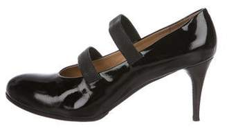 Chloé Patent Leather Round-Toe Pumps