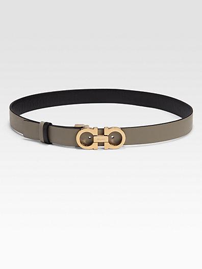 Salvatore Ferragamo Leather Belt/Grey
