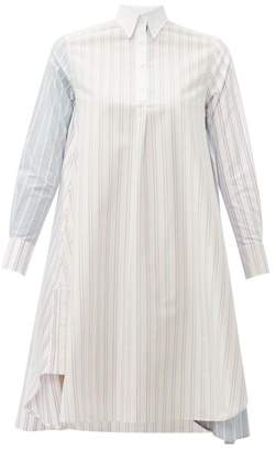 Thom Browne Striped Cotton Knee Length Shirtdress - Womens - Pink Multi