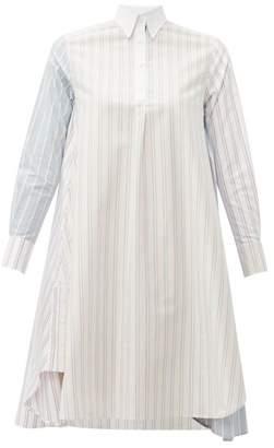 Thom Browne Striped Cotton Knee Length Shirtdress - Womens - Pink Multi