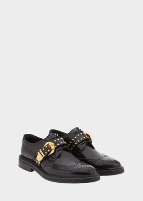 Versace Studded Belt Leather Lo-Top Brogues