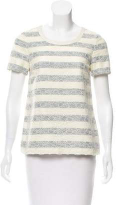 Marc Jacobs Lace Short Sleeve Top