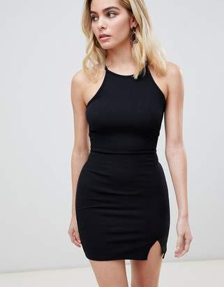 PrettyLittleThing basic high neck bodycon dress
