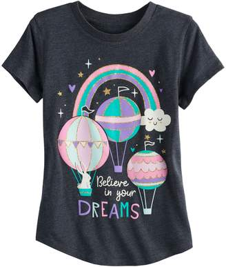 "Girls 4-10 Jumping Beans ""Believe In Your Dreams"" Tee"