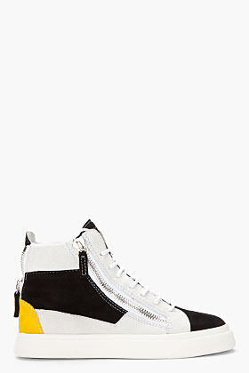 Giuseppe Zanotti Black & Yellow Suede London Donna Sneakers