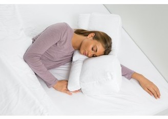 Better Sleep Pillow Goose Down Pillow Patented Arm-Tunnel Design Improves Hand And Arm Circulation Neck Pain Relief Perfect Side and Stomach Sleeper Pillow - Bed Pillow, White