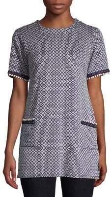 Dorothy Perkins Geometric-Print Crewneck Tunic