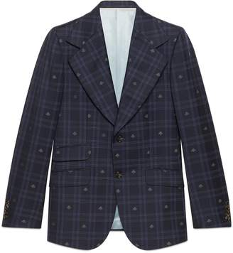 Gucci Heritage bee check jacket