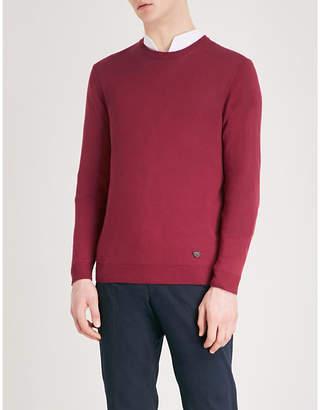 Emporio Armani Crewneck cotton jumper