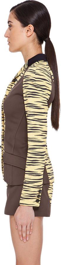Proenza Schouler Yellow Tiger Print Jacket