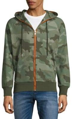 Standard Issue NYC Camo-Print Cotton Hoodie