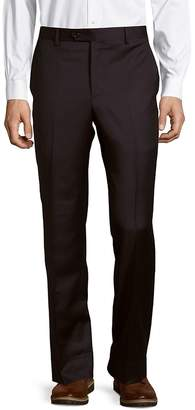 Saks Fifth Avenue Made in Italy Men's Micronosphere Solid Wool Trousers
