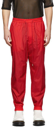 Juun.J Red Jogging Cargo Pants