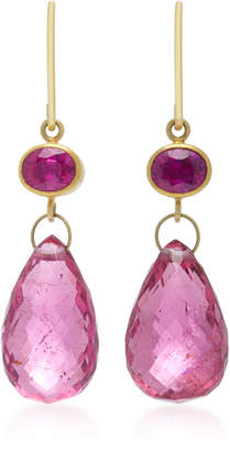 Mallary Marks Apple & Eve 18K Gold Ruby Earrings