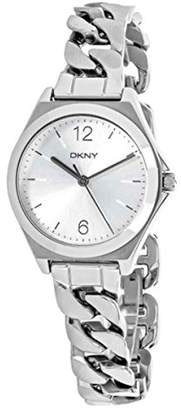 DKNY DNKY5) Women's Quartz Watch with Black Dial Analogue Display and Silver Stainless Steel Bracelet NY2424