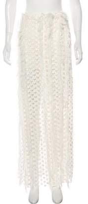 Chloé Fringe-Trimmed Macramé Skirt