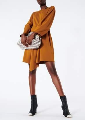Tibi Lightweight Ponte Sculpted Sleeve Short Dress