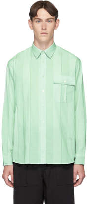 J.W.Anderson Green Broad Striped Shirt