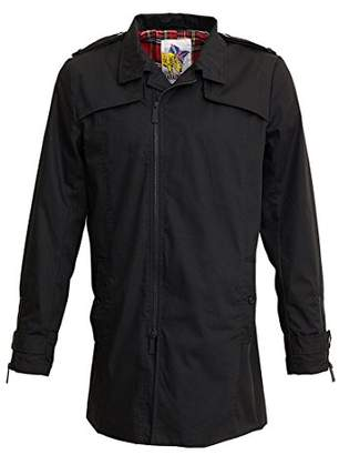 Harrington Men's Trench Jacket, Black