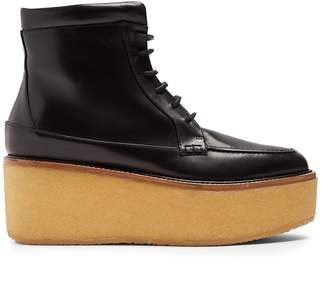 GABRIELA HEARST Terral leather flatform ankle boots