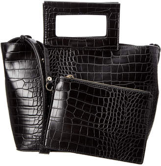 French Connection Corey Small Croc-Embossed Tote