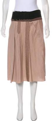 Marni Frayed-Trimmed Knee-Length Skirt