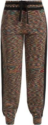Missoni Side-stripe cashmere track pants