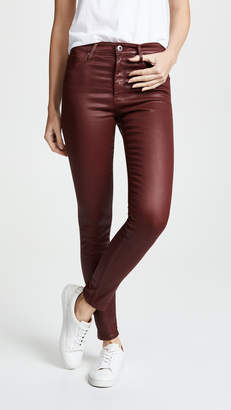 AG Jeans Farrah Ankle Leatherette Skinny Jeans