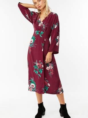 Monsoon Gloria Print Floral Wrap Dress - Red