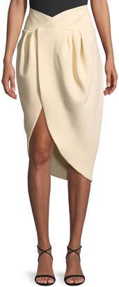 Jacquemus La Jupe Pinhao Virgin Wool Asymmetric Skirt