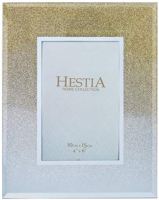 Very Glass Gold Gliter Photo Frame 4 X 6