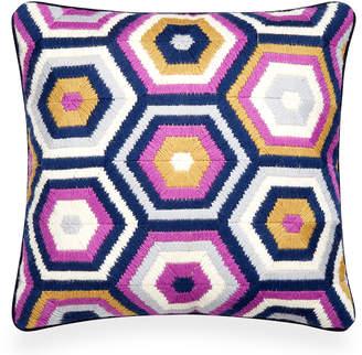 Jonathan Adler Lavender Bargello Honeycomb Throw Pillow