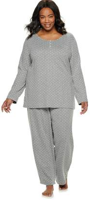 Croft & Barrow Plus Size Pajama Henley and Sleep Pants Set