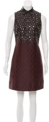 Gucci Embellished Jacquard Dress