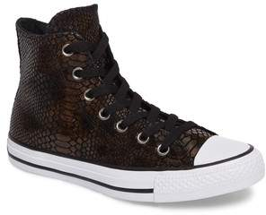 Converse Chuck Taylor(R) All Star(R) Snake Embossed High Top Sneaker