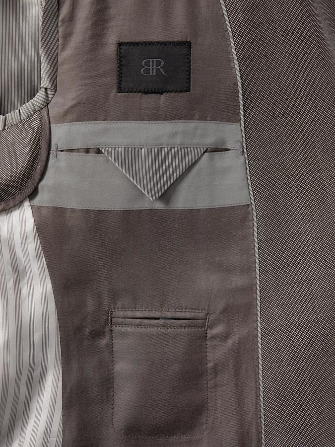 Banana Republic BR Monogram Taupe Birdseye Italian Wool Suit Jacket