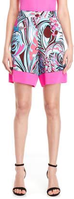 Emilio Pucci Printed High-Waisted Shorts