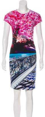 Mary Katrantzou Short Sleeve Mini Dress