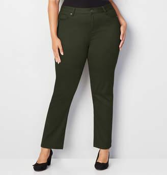 Avenue Butter Denim Straight Jean in Olive
