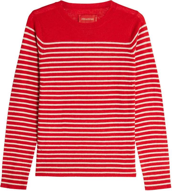 Zadig & Voltaire Striped Cashmere Pullover