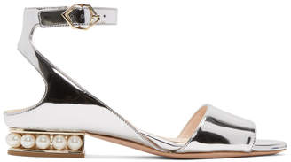 Nicholas Kirkwood Silver Metallic Lola Pearl Sandals